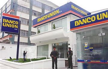 Cambian a gerente del Banco Unión en Santa Cruz