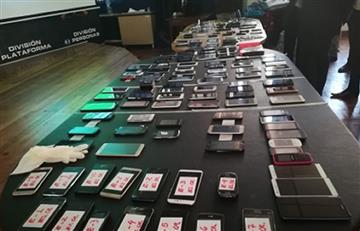 Policía decomisa en mercados ilegales cerca de 2.000 celulares robados