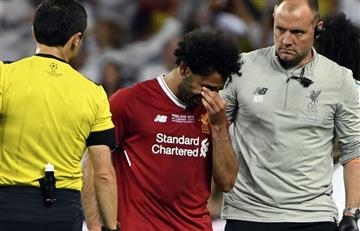 Mohamed Salah entre lágrimas se despide de la final