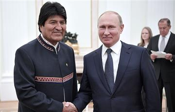 Evo comparte con intelectuales de Rusia avances de Bolivia