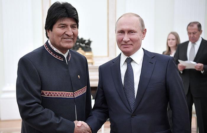 Foto: EFE. Evo comparte avances de Bolivia en Rusia
