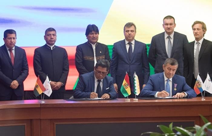 Foto: ABI. Bolivia y Rusia garantiza millonaria inversión