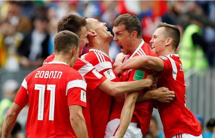 La Selección de Rusia logró su primera victoria ante Arabia Saudí. Foto: EFE