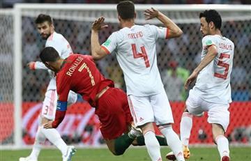 Cristiano Ronaldo marcó un triplete y Portugal empató contra España