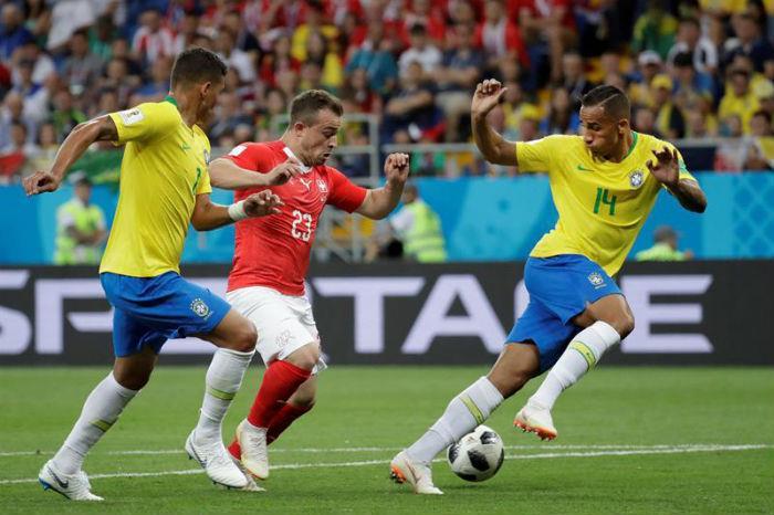 Brasil no pudo con Suiza y empató 1-1