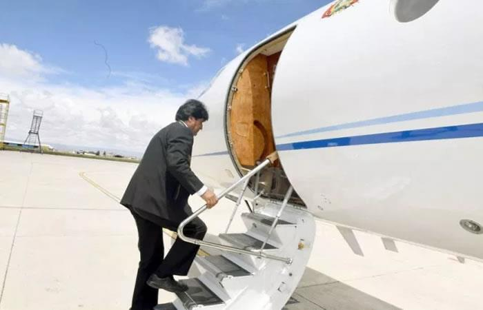 Evo retorna a Bolivia tras visitar Rusia y China. Foto: ABI
