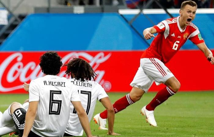 Rusia le ganó a Egipto y tiene un pie adentro en los octavos de final