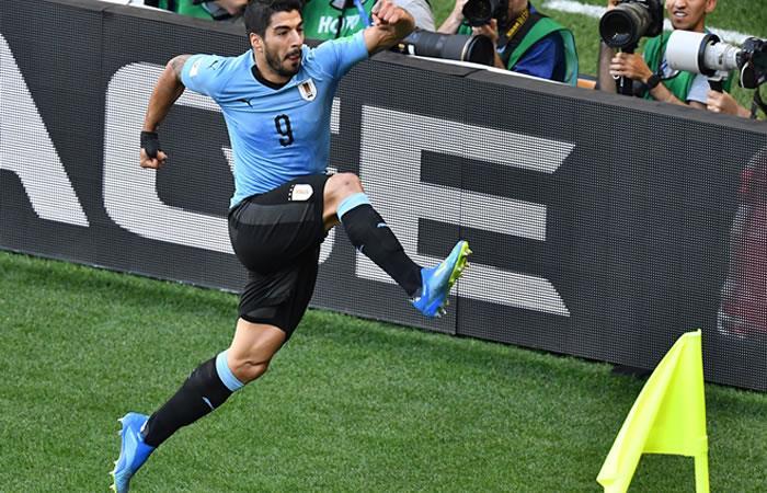 Uruguay ganó y se clasificó a octavos de final. Foto: AFP