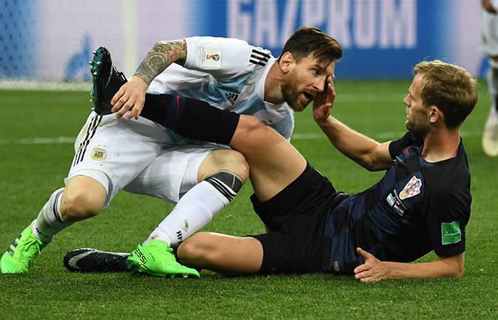 Croacia goleó a Argentina y se clasifica. Foto: AFP