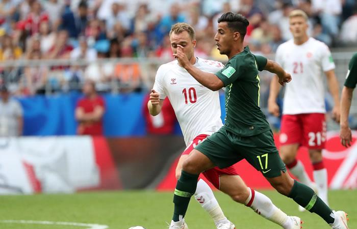Dinamarca y Australia empataron y definirán todo en la última fecha