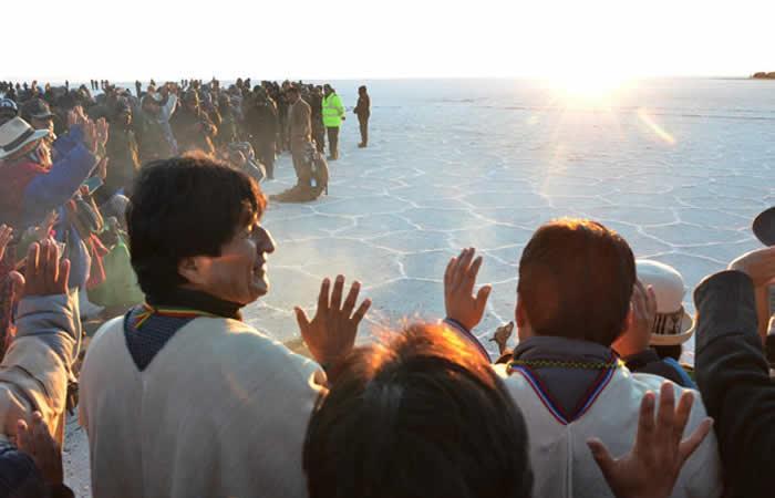 Bolivia ratifica el feriado por el Año Nuevo Aimara. Foto: ABI