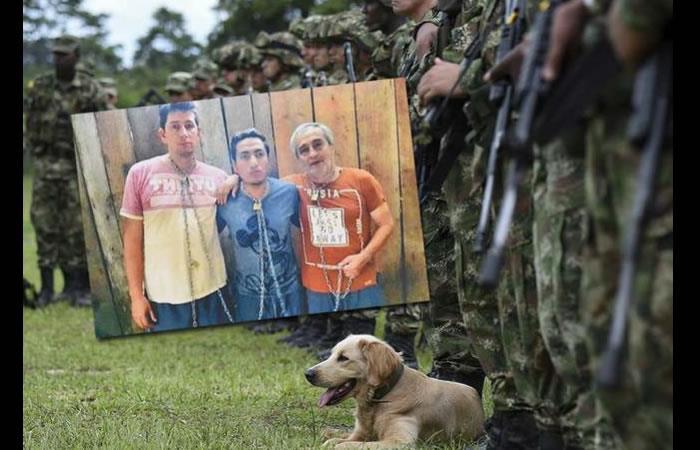 Periodistas secuestrados de Ecuador. Foto: AFP