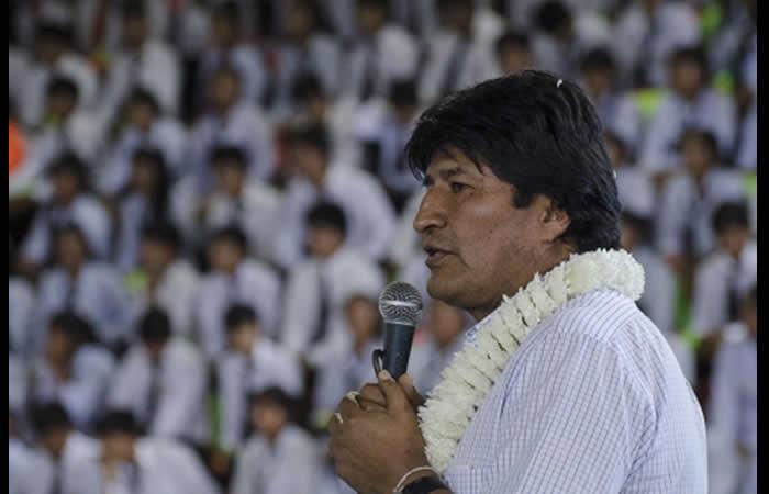 Evo Morales envió este discurso a sus opositores. Foto: ABI