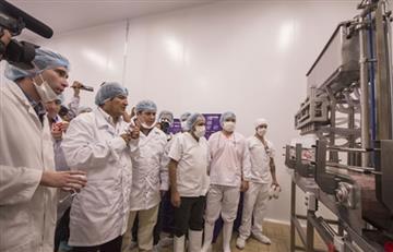 Evo Morales inaugura procesadora de lácteos e inicia era de industrialización