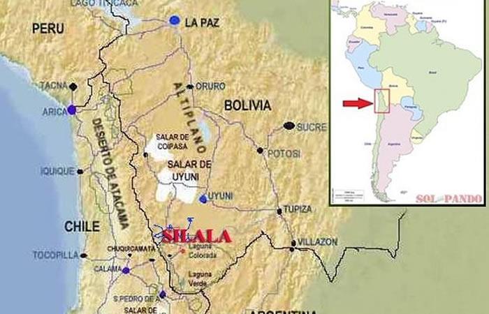 Bolivia y Chile en disputa por el río Silala. Foto: Twitter.