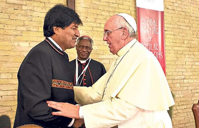 Evo Morales visitará al papa Francisco el 29 de junio. Foto: AFP