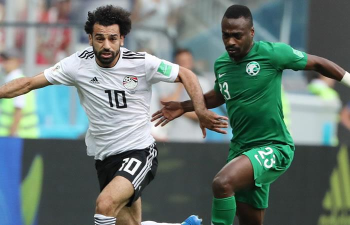 Arabia Saudita y Egipto empataron sus respectivas despedidas del Mundial. Foto: EFE