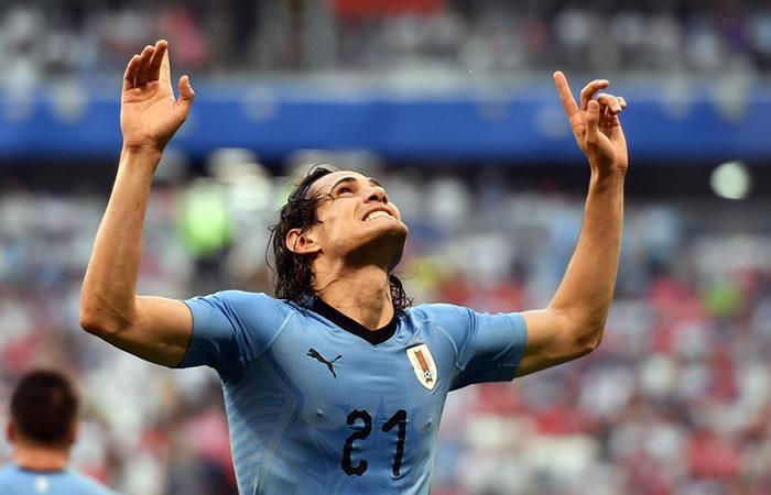 Edinson Cavani aportó a la victoria de Uruguay sobre Rusia. Foto: AFP