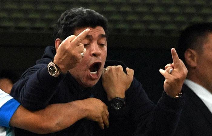 Diego Armando Maradona y su