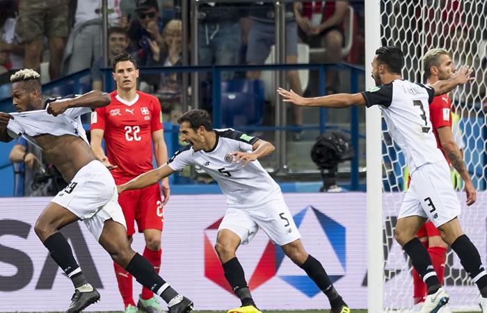 Costa Rica se despidió con gol, empató y Suiza clasificó