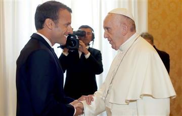 Emmanuel Macron visita al papa Francisco en la Santa Sede