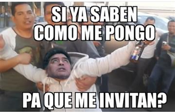 Maradona se pasó en la celebración y estos fueron los mejores memes