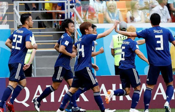 Japón perdió, pero logró clasificar a octavos de final de Rusia 2018. Foto: EFE