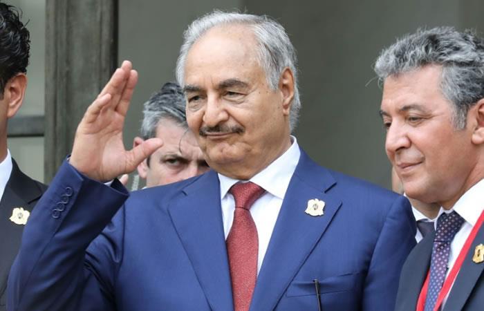 El mariscal libio Jalifa Haftar. Foto. AFP.