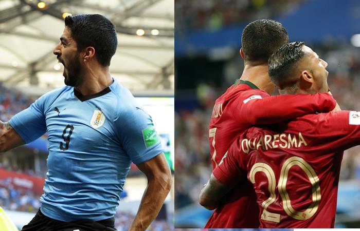 Uruguay y Portugal se enfrentan en los octavos de final del Mundial de Rusia 2018. Fotos: EFE