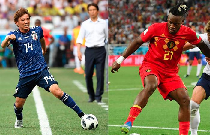 Bélgica vs. Japón Foto: AFP