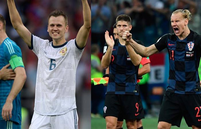 Rusia vs Croacia Foto: AFP