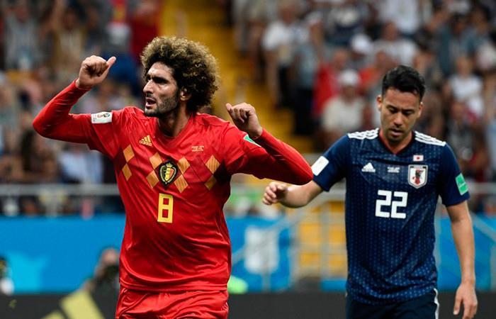 Bélgica clasifica a cuartos de final Foto: AFP