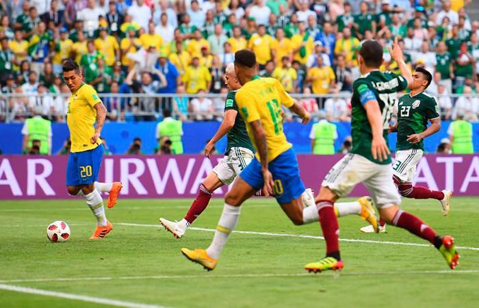 Brasil avanza a cuartos de final Foto: AFP