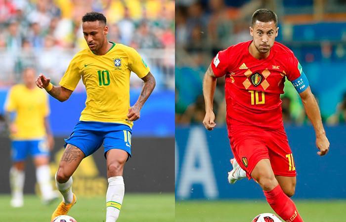 Brasil vs. Bélgica Foto: AFP