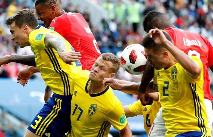 Suecia  se clasificó a los cuartos de final. Foto: EFE