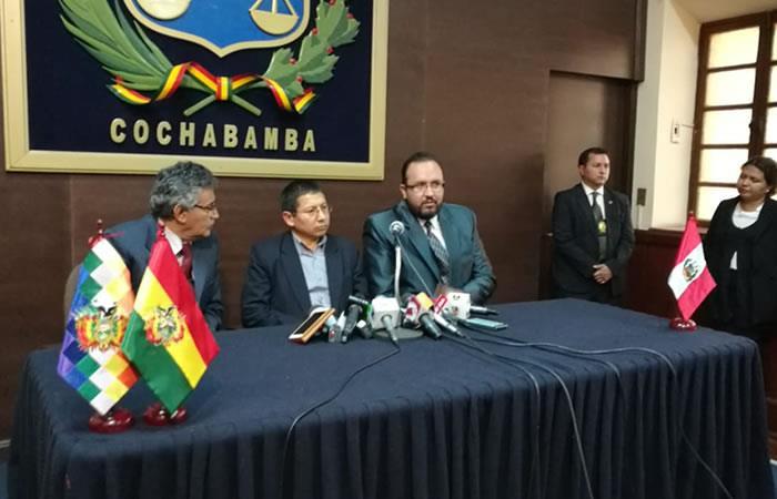 Bolivia y Perú se reúnen por tren bioceánico. Foto: ABI