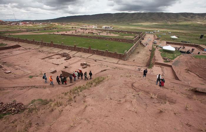 Bolivia descubre superficie real de Tiahuanaco. Foto: EFE