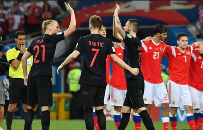 Croacia y Inglaterra se mediran en la semifinal. Foto: AFP