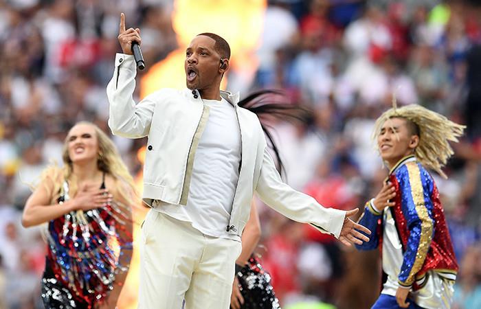Will Smith cantó la canción del Mundial Foto:EFE