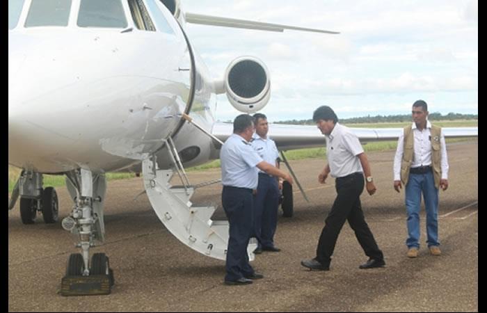 Evo Morales viaja a Cuba. Foto: ABI