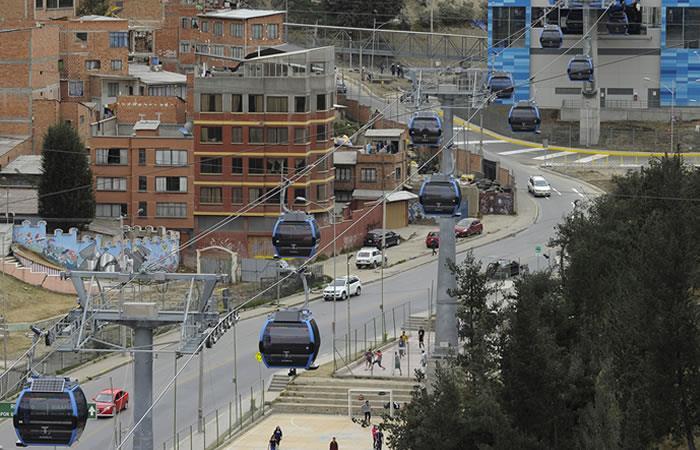 La Paz extiende su exitoso teleférico. Foto: AFP