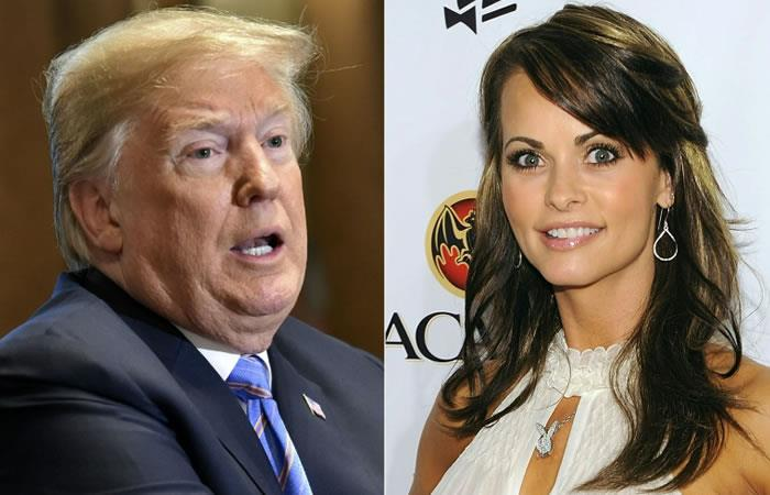 La exmodelo de Playboy Karen McDougal dijo que mantuvo una relación durante varios meses con el entonces empresario Donald Trump. Foto. AFP.