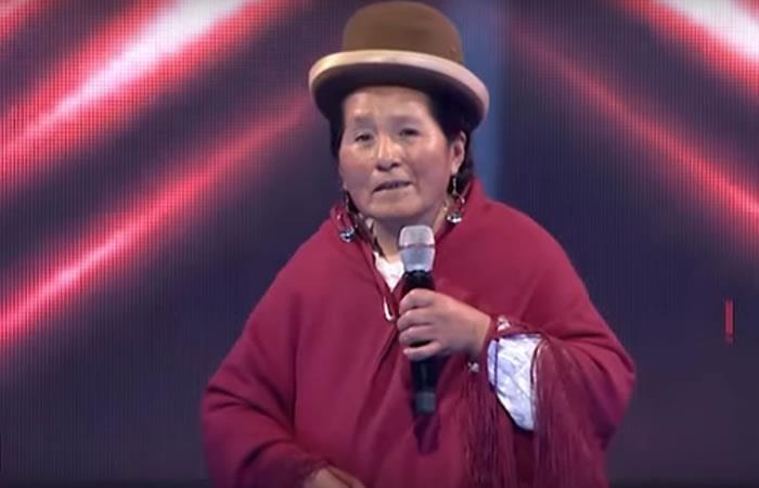 Doña María en el Factor X Bolivia. Foto: Youtube