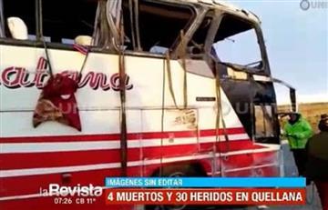La Paz: Accidente de autobús deja cuatro muertos y 30 heridos