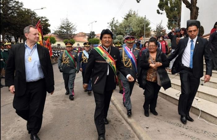 Evo Morales asegura tranquilidad en la conmemoración. Foto: ABI