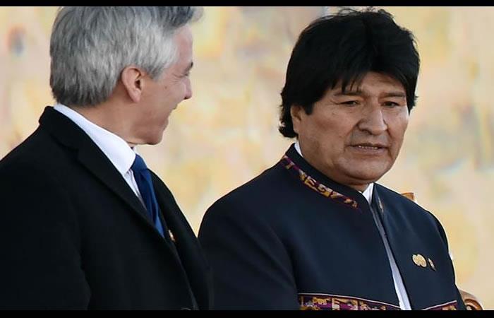 García Linera y Evo Morales. Foto: AFP