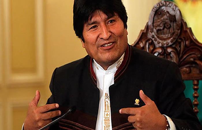 Evo Morales, el presidente más admirado de la historia. Foto: AFP