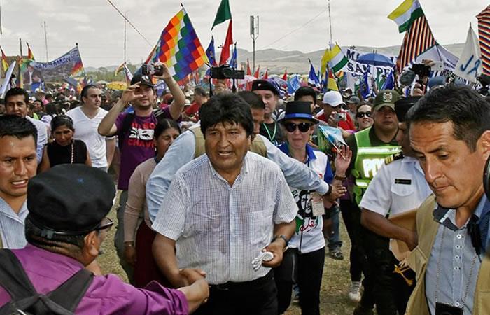 Bolivia celebra el día de la independencia. Foto: AFP