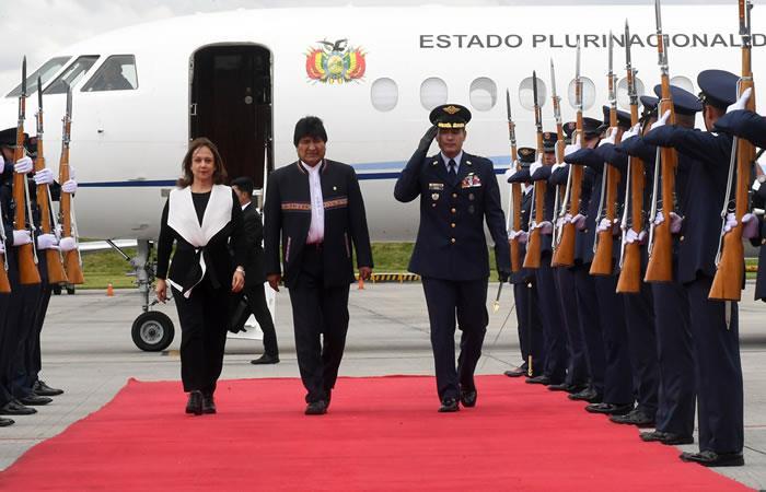 Evo Morales en Bogotá. Foto: ABI
