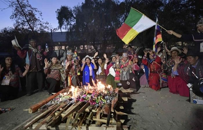 Evo celebra el día de los pueblos indígenas. Foto: ABI